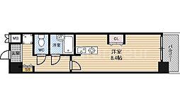 エスリード都島[3階]の間取り