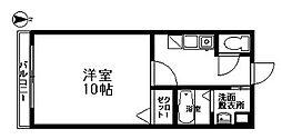 ル・レーヴ七隈[203号室]の間取り