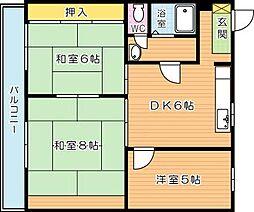 サン赤坂マンション[5階]の間取り