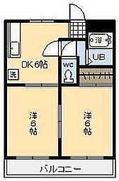 第二押川ビル[106号室]の間取り