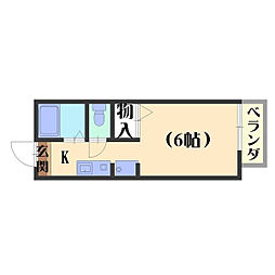 ハイツKOUNAN[106号室]の間取り