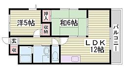 サニーコート鷹取[105号室]の間取り
