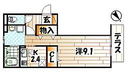 エルカーサ門司駅前[1階]の間取り