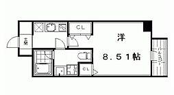 フォース二条城東[205号室号室]の間取り