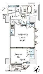 JR総武本線 馬喰町駅 徒歩4分の賃貸マンション 5階1LDKの間取り