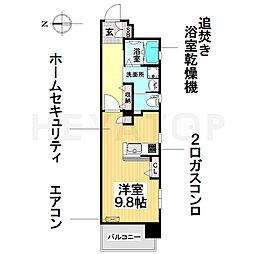RIVO浅間町[8階]の間取り