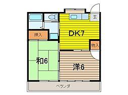 コーポ島崎[202号室]の間取り