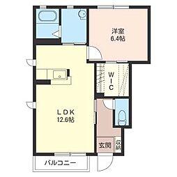 ラ・グランシューズC[1階]の間取り