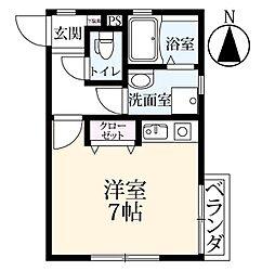 永田ビル[2階]の間取り