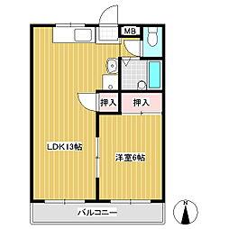 ツインパレスKOIZUMI F棟[3階]の間取り
