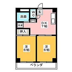 エーデルハイム成田[2階]の間取り