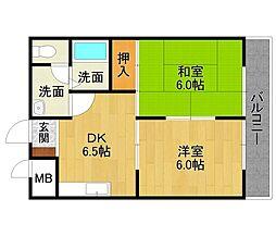 山本不動産ビル[4階]の間取り