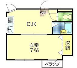 CAマンション[202号室]の間取り