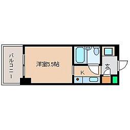 カサベラ岡本[415号室号室]の間取り