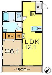神奈川県横浜市港南区日野3丁目の賃貸アパートの間取り