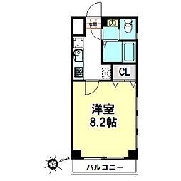 栗林第6ビル[4階]の間取り