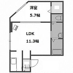 北海道札幌市中央区南十四条西8丁目の賃貸マンションの間取り