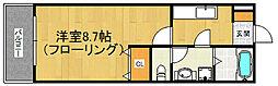 福岡県福岡市西区姪の浜6丁目の賃貸アパートの間取り