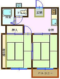 広島県呉市広古新開6丁目の賃貸アパートの間取り