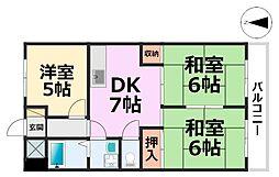 橋本第2マンション[405号室号室]の間取り