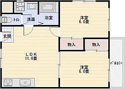 サイドテール高井田[1階]の間取り