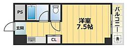 エクセルシオール長田[2階]の間取り