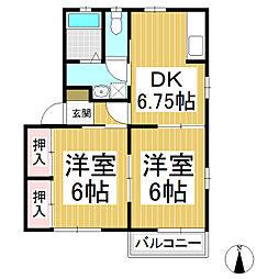 ユートピアB棟[2階]の間取り