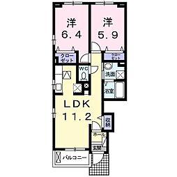 仮)北島田1丁目アパート[101号室]の間取り