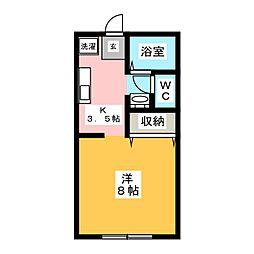 ルピナス21 B棟[1階]の間取り