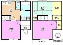 [テラスハウス] 長野県長野市三本柳西1丁目 の賃貸【/】の間取り