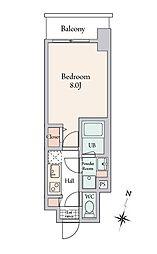 BLESS溝ノ口 3階1Kの間取り