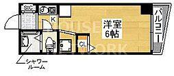 シボラ六条高倉[4-F号室号室]の間取り