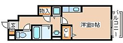 兵庫県神戸市西区長畑町の賃貸マンションの間取り