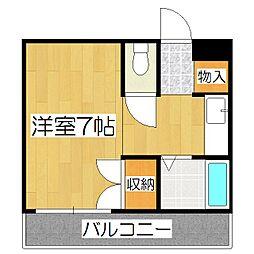 ハイム桃山[2階]の間取り