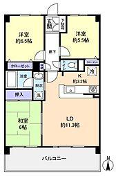 千葉県船橋市飯山満町2丁目の賃貸マンションの間取り
