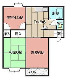ドミールTAKAMI[101号室]の間取り