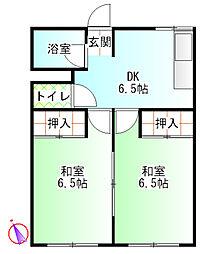 コーポ沢[2階]の間取り