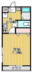 ハビタット石井[1階]の間取り
