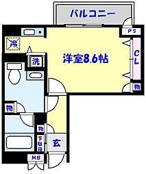 Park Axis西船橋[312号室]の間取り