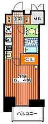 エステムプラザ神戸水木通グランクロス[6階]の間取り
