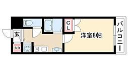 愛知県長久手市下川原の賃貸マンションの間取り
