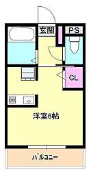 東京都日野市南平4丁目の賃貸マンションの間取り