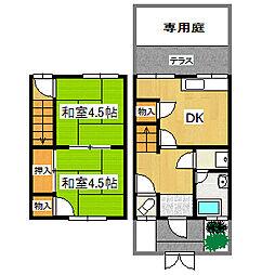 [タウンハウス] 兵庫県宝塚市小林3丁目 の賃貸【/】の間取り