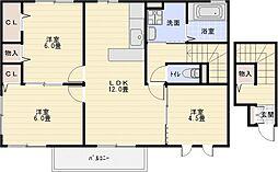 コージーコート法善寺[2階]の間取り