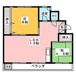 下山ビル[1階]の間取り