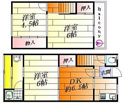 [テラスハウス] 大阪府茨木市水尾1丁目 の賃貸【/】の間取り