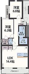アンソレイエ祇園原[3階]の間取り