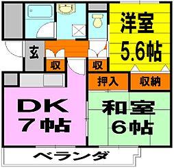 大阪府豊中市螢池東町3丁目の賃貸マンションの間取り