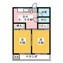 レジデンス大野木[3階]の間取り