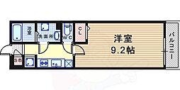 リブリ・東園田 3階1Kの間取り